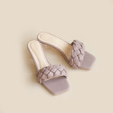 Kyna Clear Heels | Ash Purple