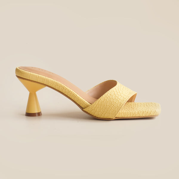 Esme Heels | Yellow