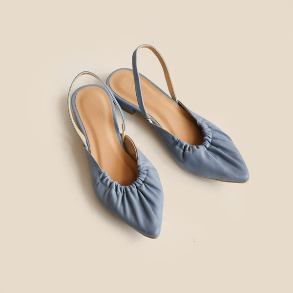 Nicola Flats | Denim Blue