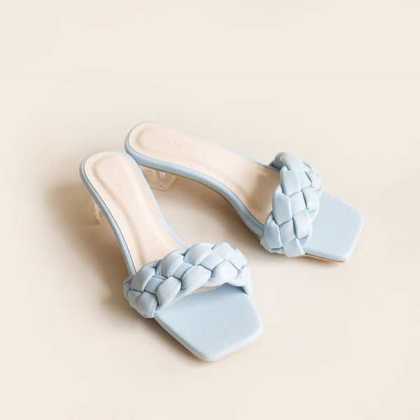 Kyna Clear Heels | Blue