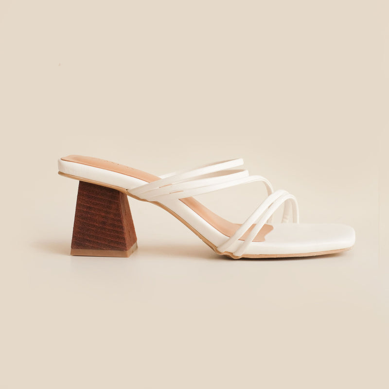 Gion Heels | White