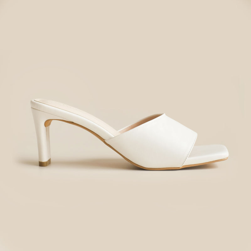 Abbey Heels | White