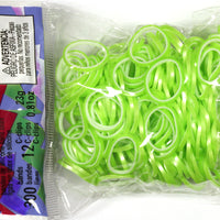 RL Band (Pearl 300) Neon Lime Green & White