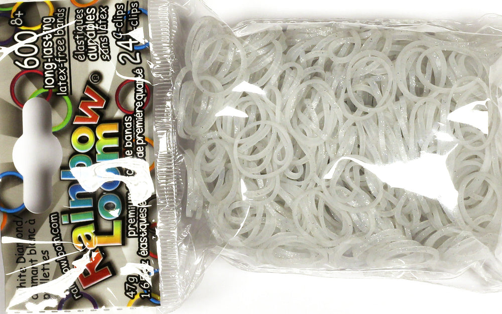RL Band (Silicone 600) White Diamond Glitter