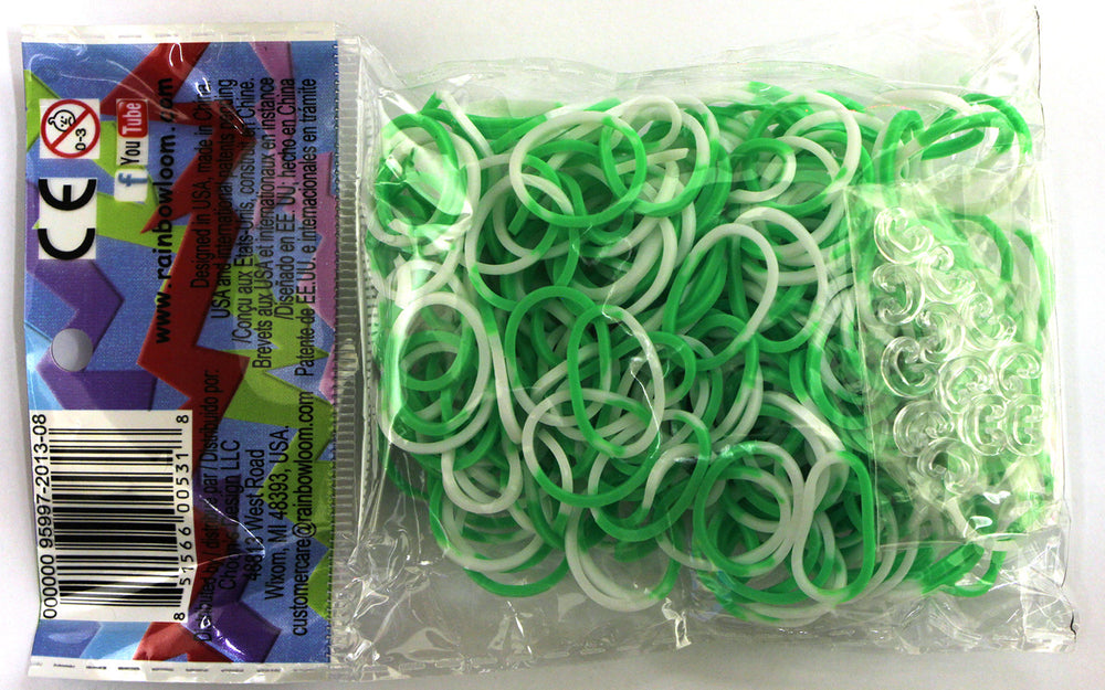RL Band (Silicone 300) Green-White