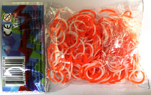 RL Band (Silicone 300) Orange-White
