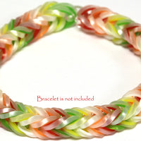 RL Band (Silk 300) Pearl & Neon Orange