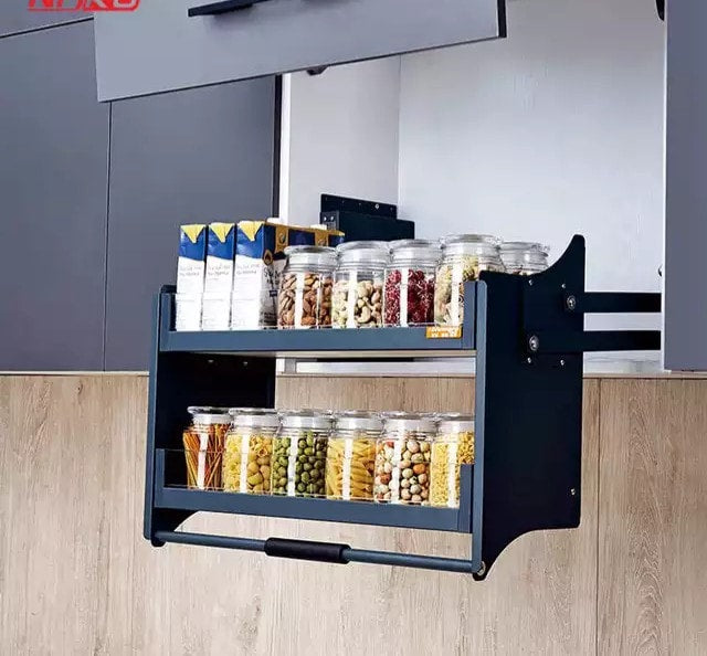 Cabinet Pull Out Wall Unit Pull Down Cabinet System Lift Basket 400 To La Moderno