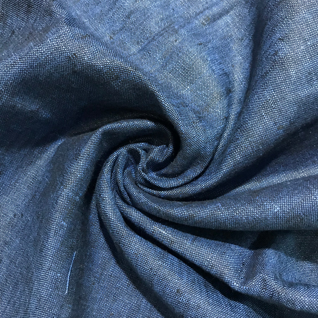 Sapphire Blue 100% Pure Linen Unstitched Trousers Fabric for Men, Women, kids