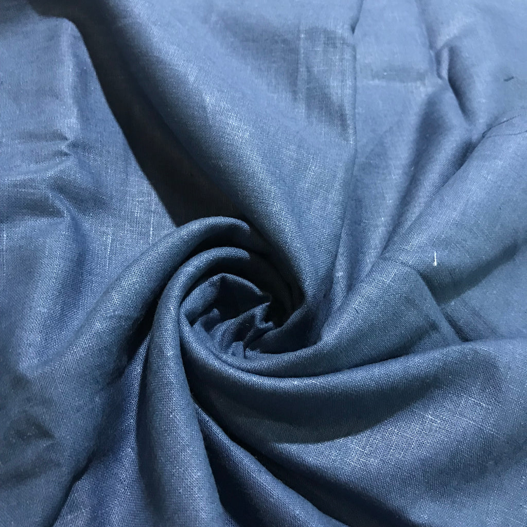 Steel Blue 100% Pure Linen Unstitched Trousers Fabric for Men, Women, kids