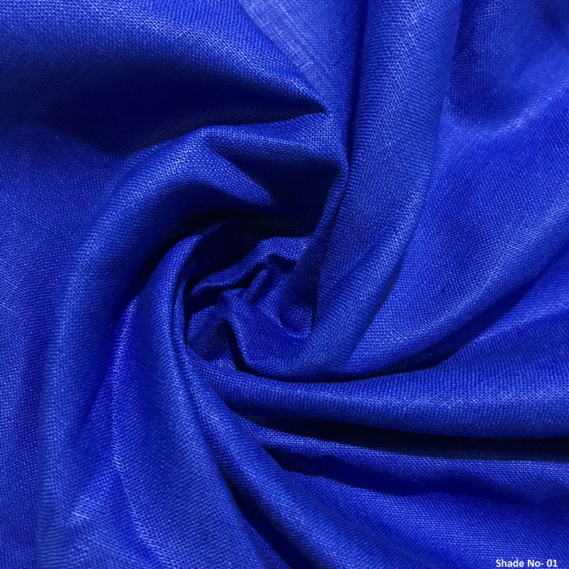 Royal Blue100% Pure Linen Unstitched Trousers Fabric for Men, Women,kids