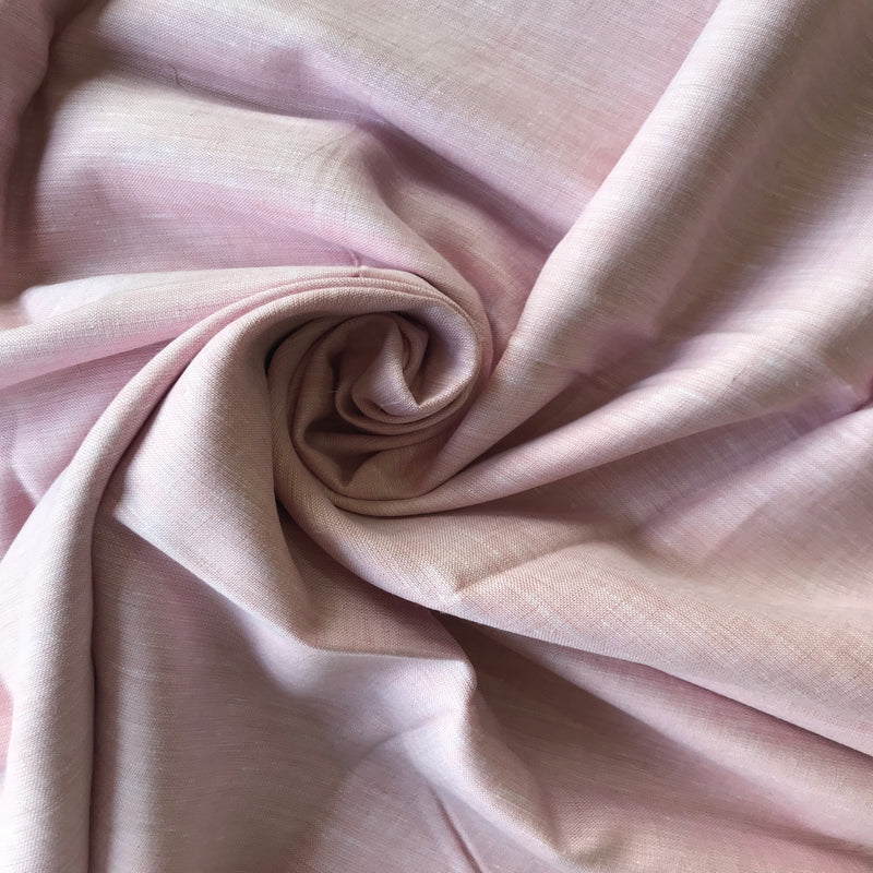Baby Pink 100% Pure Linen Unstitched Shirt Fabric for Men, Women, kids
