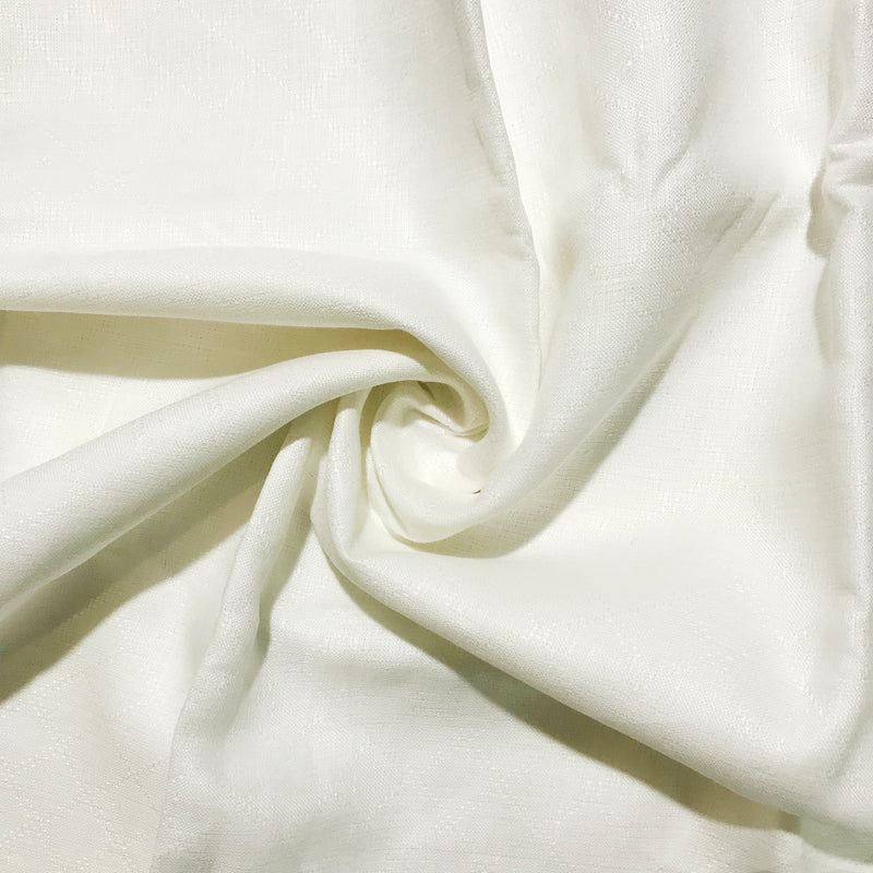 white100% Pure Linen Unstitched Shirt Fabric for Men, Women, kids