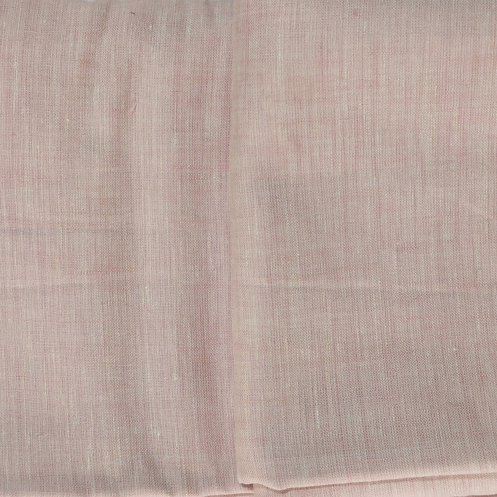 Light pink100% Pure Linen Unstitched Shirt Fabric for Men, Women, kids