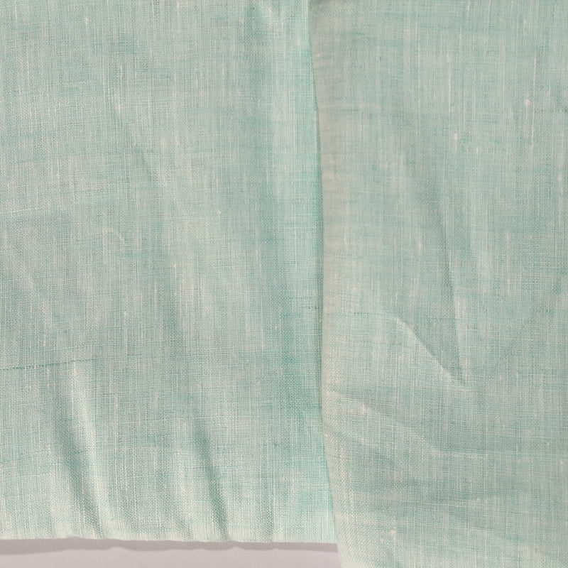 Light Sea Green 100% Pure Linen Unstitched Shirt Fabric for Men, Women, kids