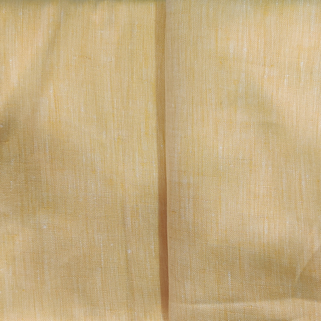 Navajowhite Brown 100% Pure Linen Unstitched Shirt Fabric for Men, Women, kids