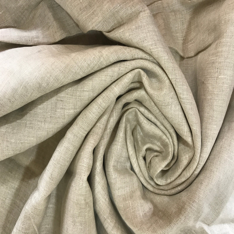 Natural Linen  100% Pure Linen Unstitched Shirt Fabric for Men, Women, kids