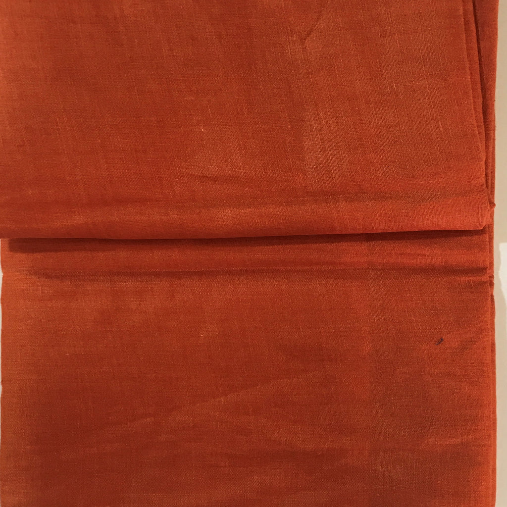 Orange 100% Pure Linen Unstitched Shirt Fabric for Men, Women, kids
