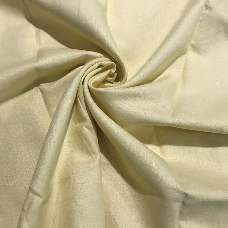 Moonlight Yellow 100% Pure Linen Unstitched Shirt Fabric for Men, Women, kids