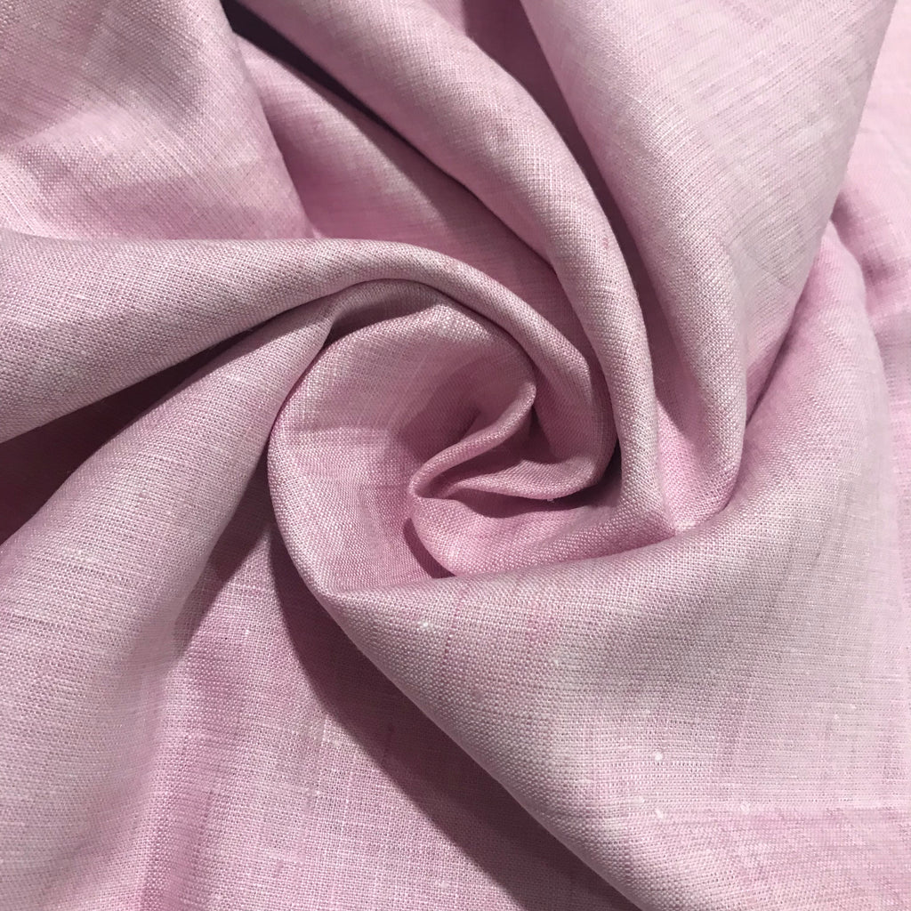 Tulip Pink 100% Pure Linen Unstitched Shirt Fabric for Men, Women, kids