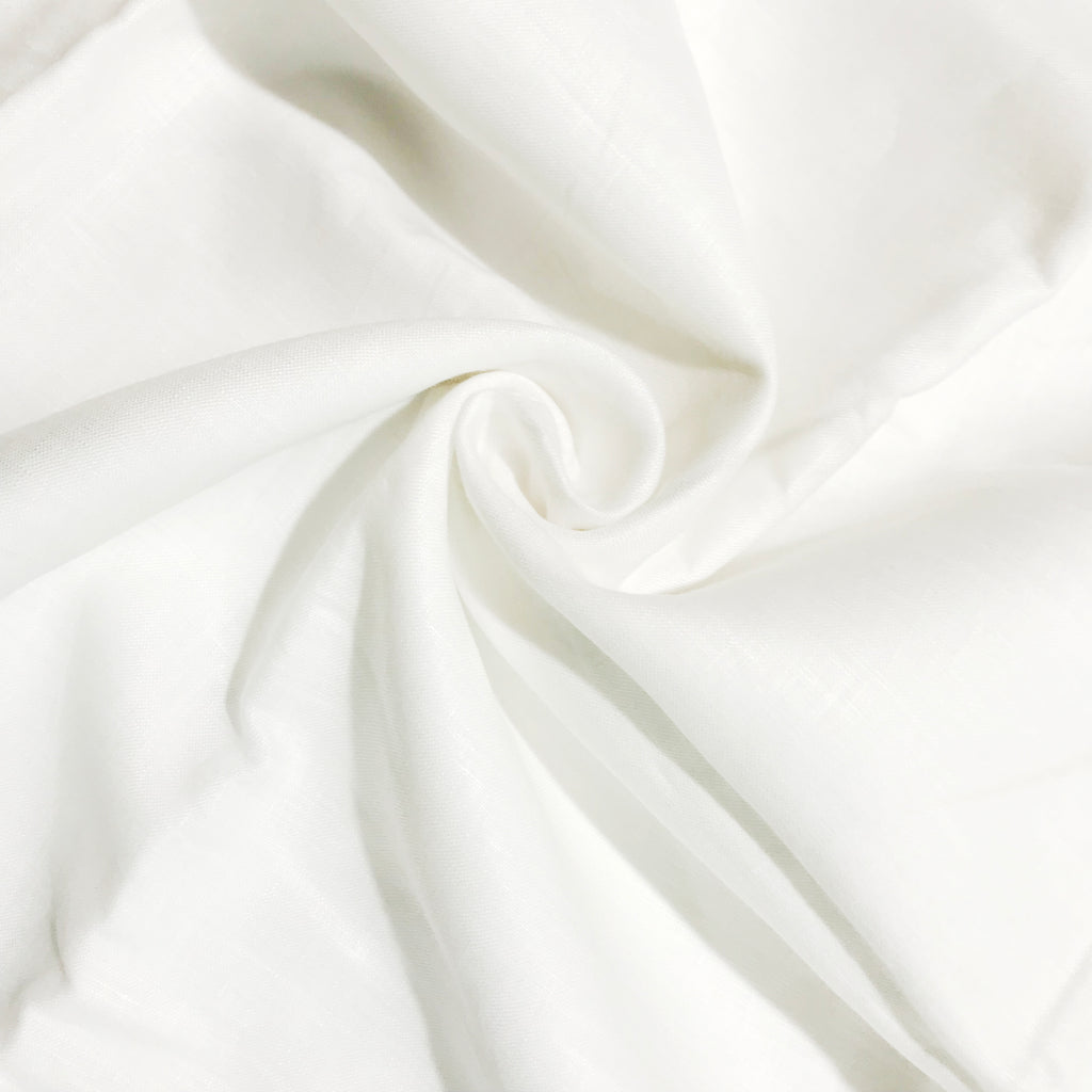 white 100% Pure Linen Unstitched Shirt Fabric for Men, Women, kids