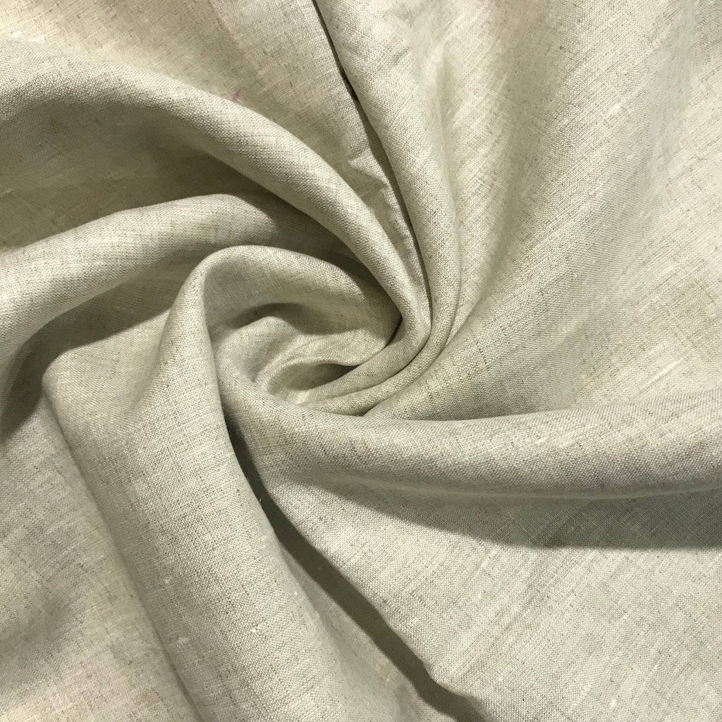 Beige 100% Pure Linen Unstitched Shirt Fabric for Men, Women, kids