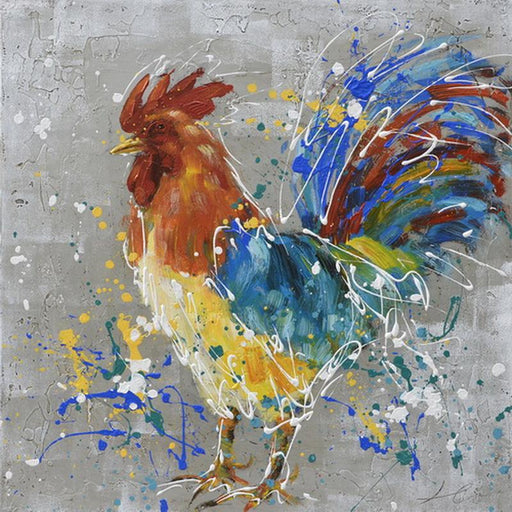Silent Rooster Left - Paintingsonline