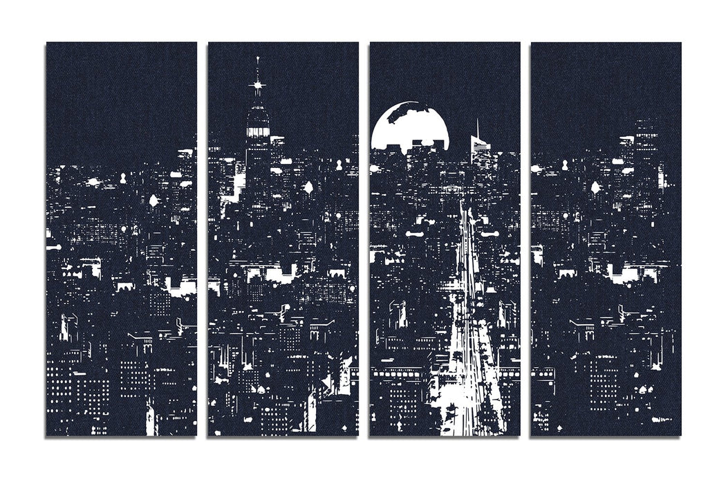 Midnight In The City - Paintingsonline