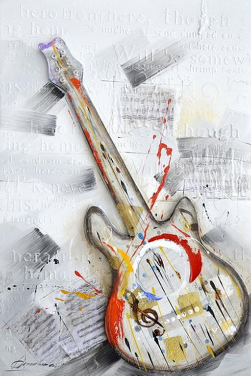 Guitar Left - Paintingsonline