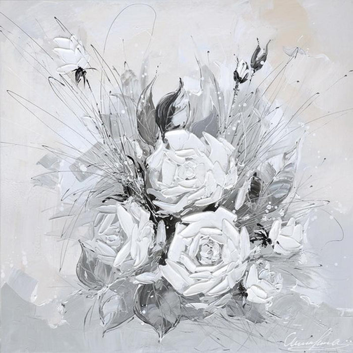 Monochrome Bouquet - Paintingsonline