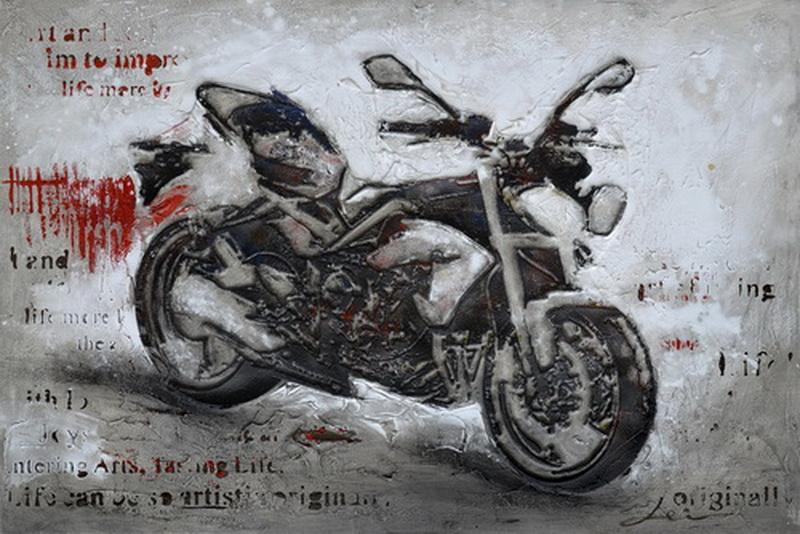 Black Motorbike - Paintingsonline