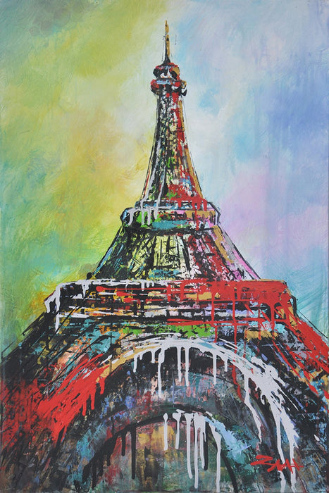 Below The Eiffel - Paintingsonline