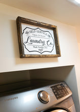 Load image into Gallery viewer, Self-Service Laundry Farmhouse Sign