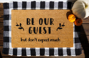 Be Our Guest Doormat