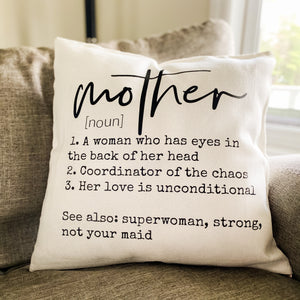 Mother Definition Pillow