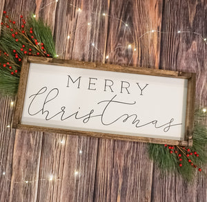 Merry Christmas Farmhouse Sign