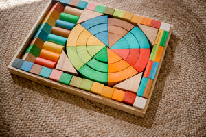 Jumbo Natural Rainbow Blocks- 86 pcs