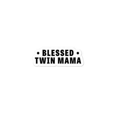 Blessed Twin Mama Bubble-free stickers - Darilambu