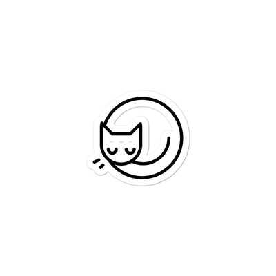 Cute Sleeping Cat Bubble-free sticker - Darilambu
