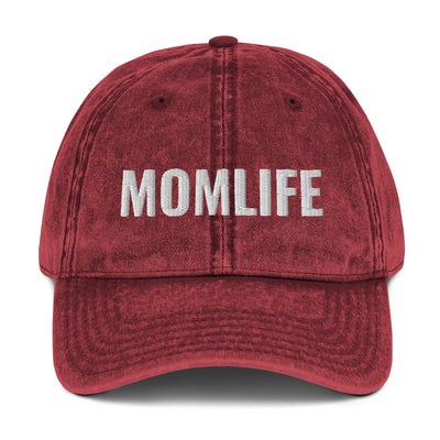 Mom Life Vintage Cotton Twill Cap - Darilambu