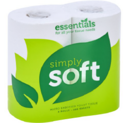 Simply Soft Toilet Roll 2ply White