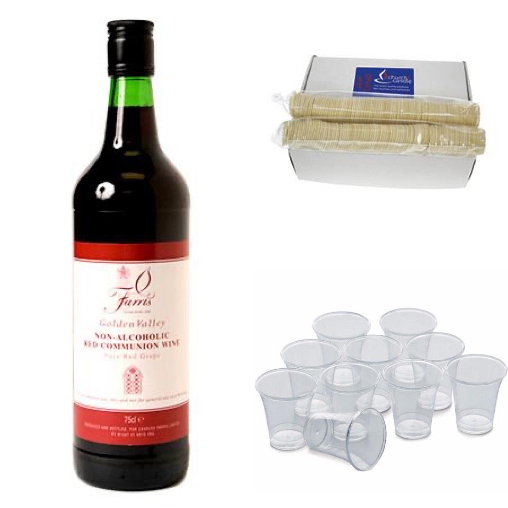 Home Communion Pack (3 items) (Non-alcoholic/alcoholic wine options)