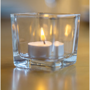 Glass Tea light Holders 8cm x 8cm