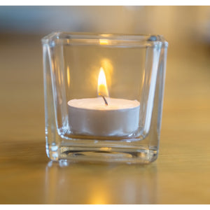 Glass Tea light Holders  6cm x 6cm
