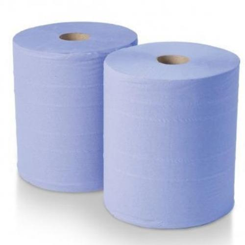 Blue Centre Feed Roll Paper Wipe - Pack 6