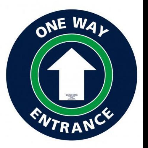 One Way/Entrance Non Slip Floor Sticker