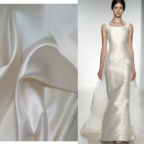High Quality Duchess Silk Satin Fabric For Wedding Dresses