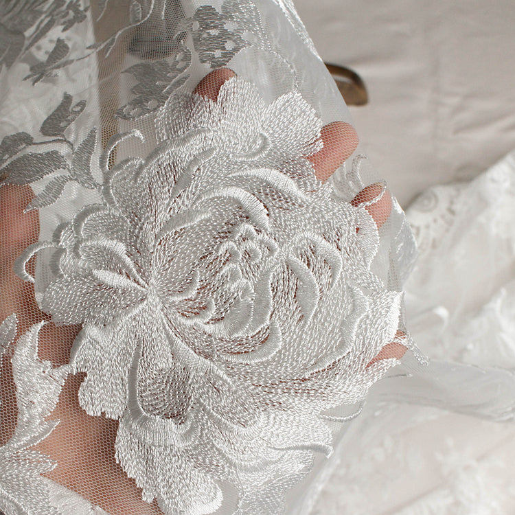 High quality French lace tulle Guipure lace