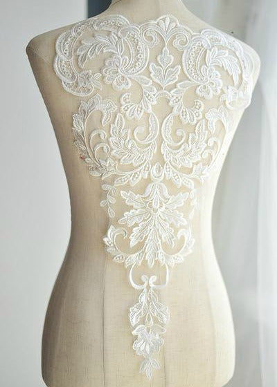 Long Embroidered Lace Applique Lace Trim French Lace