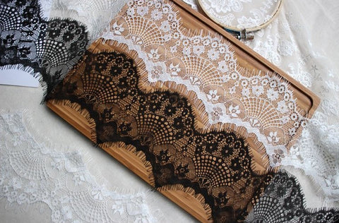 Floral Eyelash Lace Trim  High Quality Lace Fabric 10cm Wide
